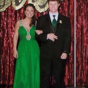 Green Jovani formal dress